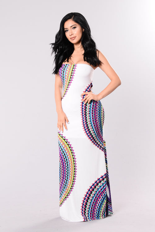 Mixed Drinks Dress - White
