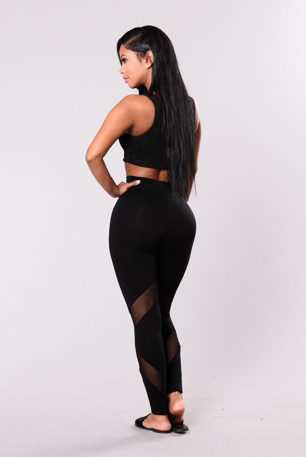 Strength Mesh Leggings - Black