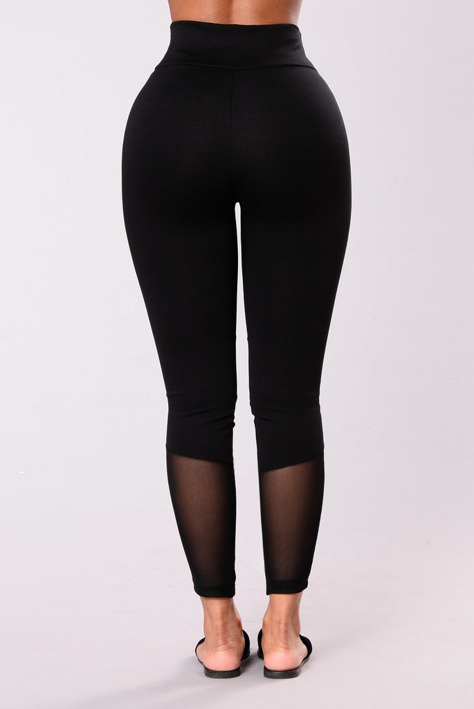 Flexibility Mesh Leggings - Black