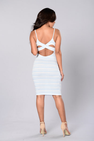 Mamma Mia Dress - Sky Blue