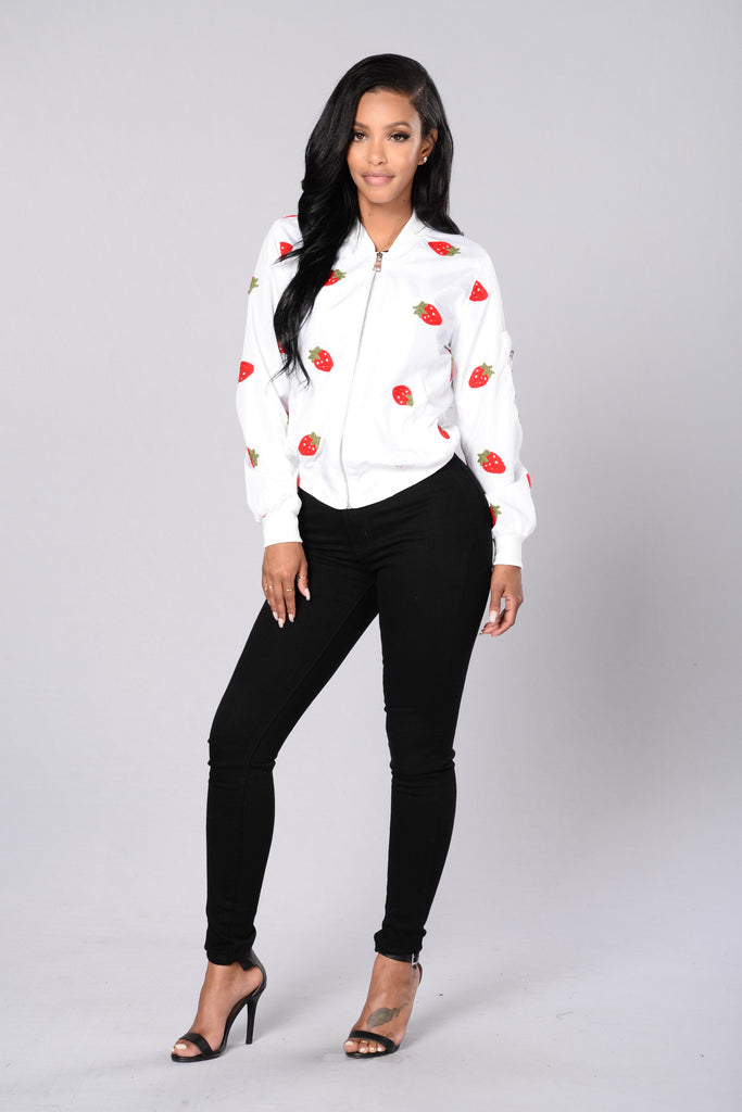 Strawberry Fields Forever Jacket - White
