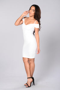 Candlelit Dinner Dress - White