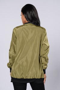 Sky's The Limit Bomber Jacket - Olive Angle 3