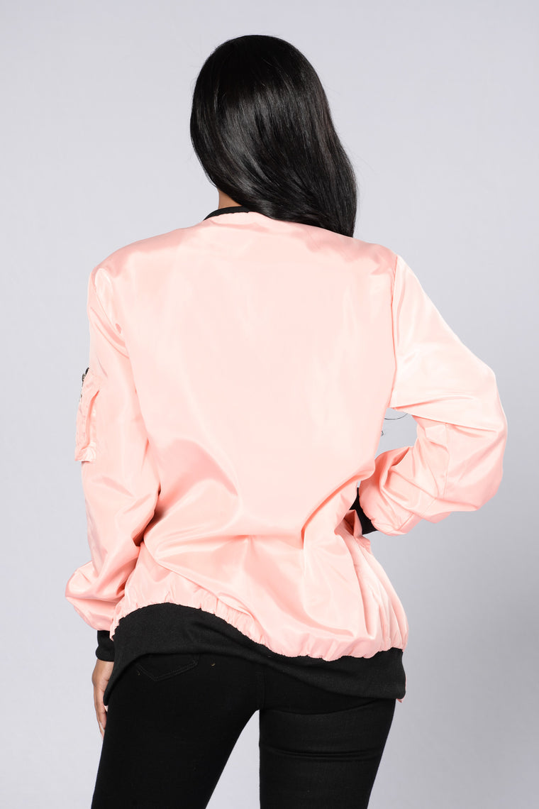 Sky's The Limit Bomber Jacket - Pink