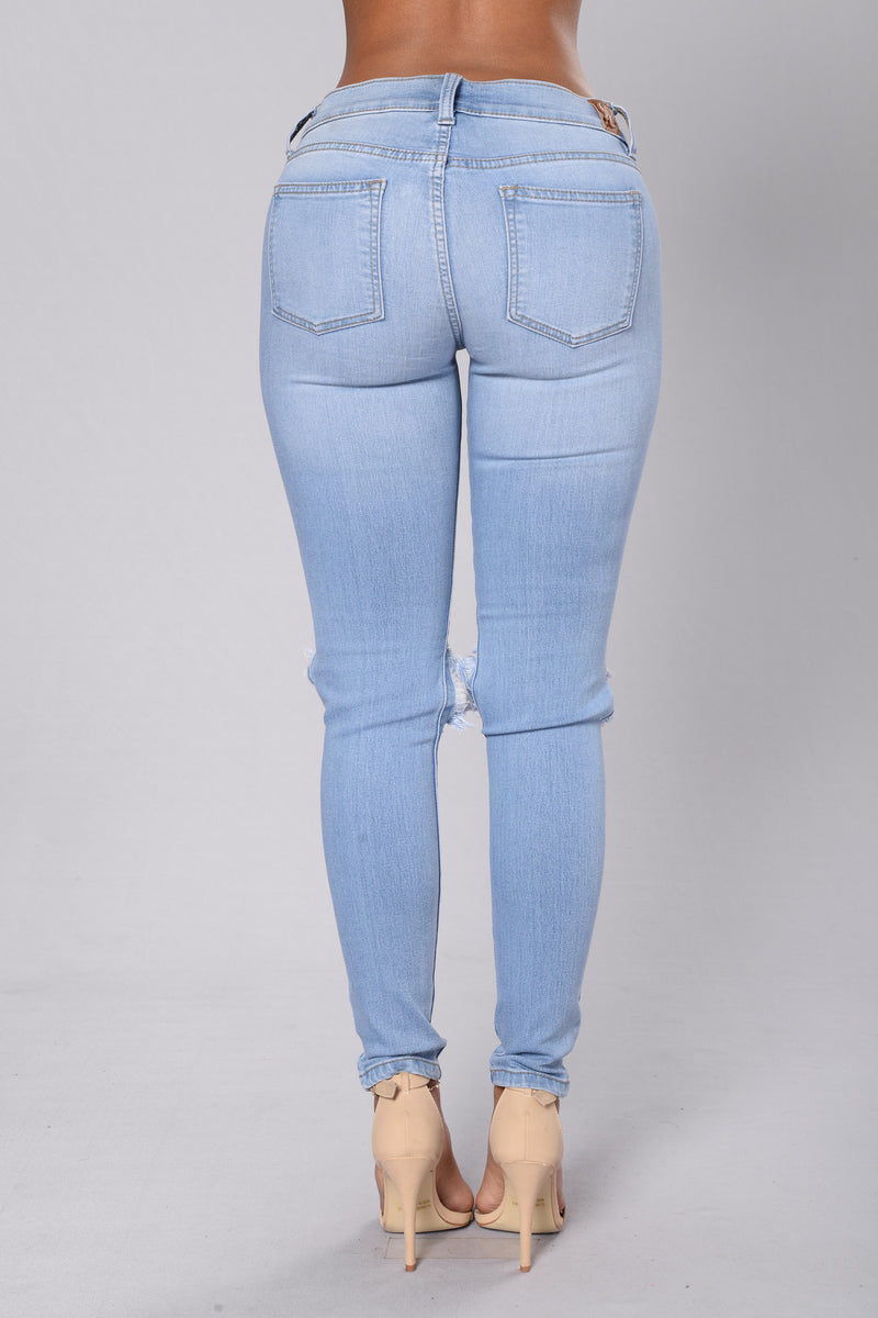 I Kneed Love Jeans - Light Denim