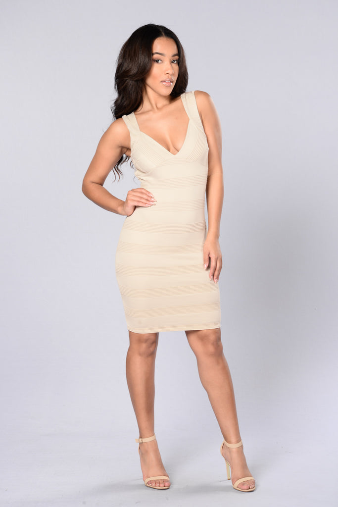 Rosy Disposition Dress - Taupe