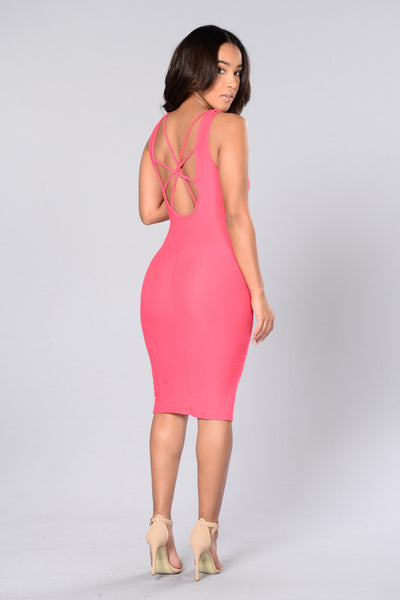 Angelica Dress - Hot Pink