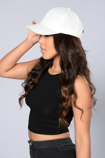 Lace Cap - White