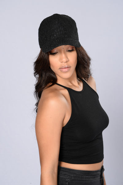 Lace Cap - Black