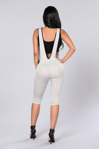 Skip Out Jumpsuit - Heather Grey Angle 2