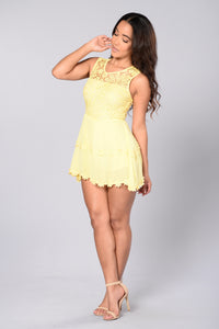 Not So Innocent Romper - Yellow