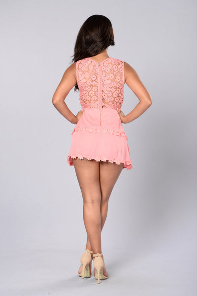Not So Innocent Romper - Rose