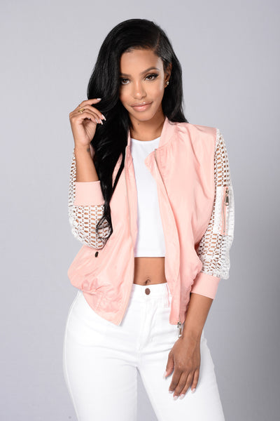 Good Times Bomber Jacket - Pink
