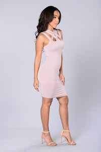 Delaney Dress - Lilac Grey