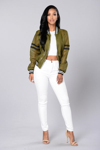 Dream Team Bomber Jacket - Olive/Black