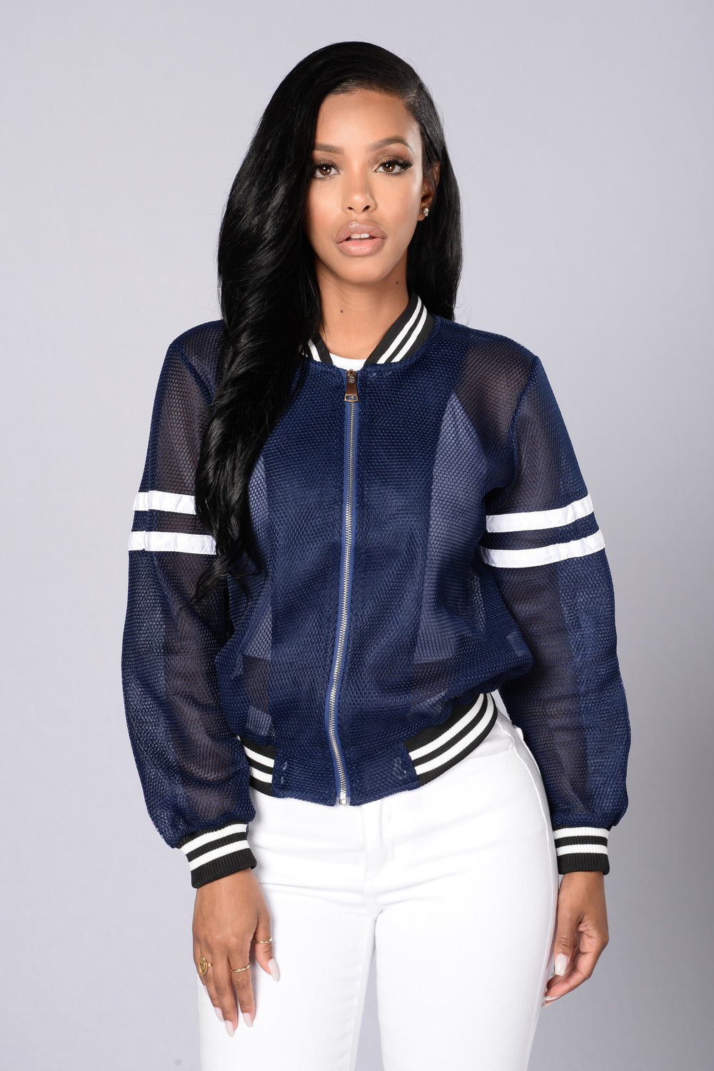 Dream Team Bomber Jacket - Blue/White