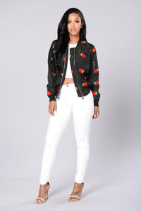 Strawberry Fields Forever Jacket - Black
