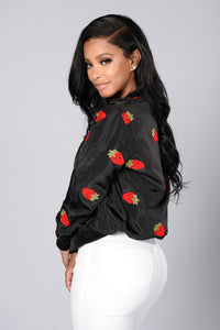 Strawberry Fields Forever Jacket - Black Angle 6