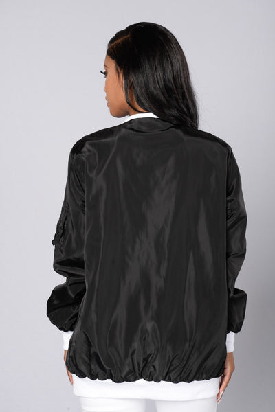 Sky's The Limit Bomber Jacket - Black