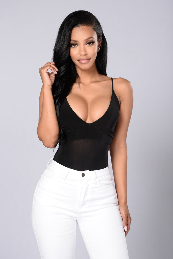 Sweet Intuition Bodysuit - Black