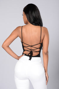 Sweet Intuition Bodysuit - Black Angle 1