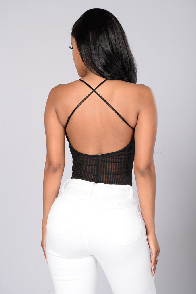 Cross The Road Bodysuit - Black
