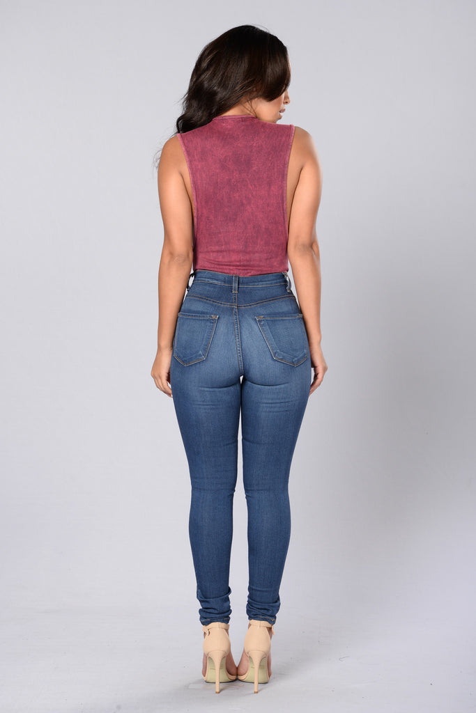 Let's Just Chill Bodysuit - Burgundy