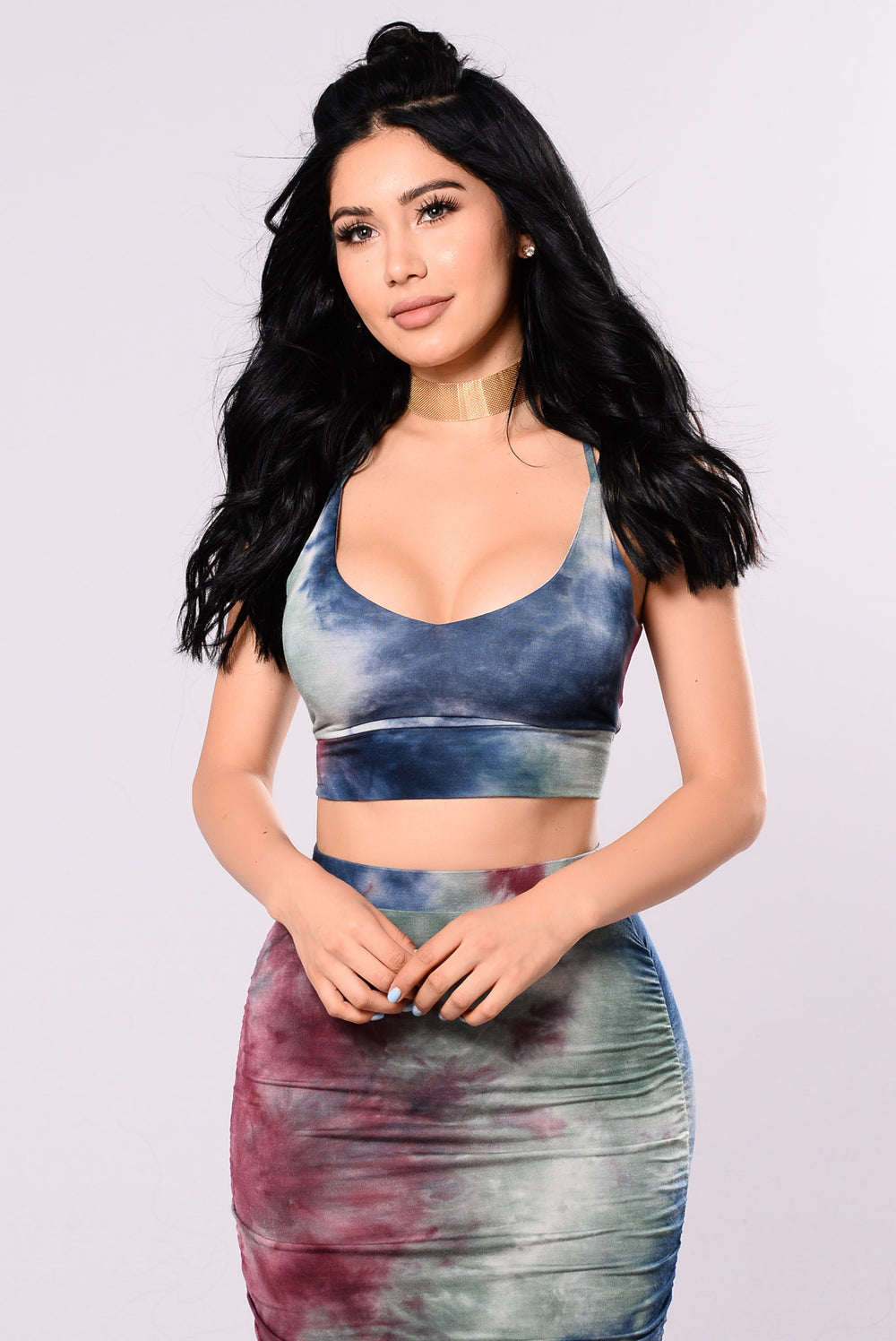 Savannah Tie Dye Set - Burgundy