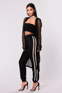 Fish Out Of Water Fishnet Jacket - Black