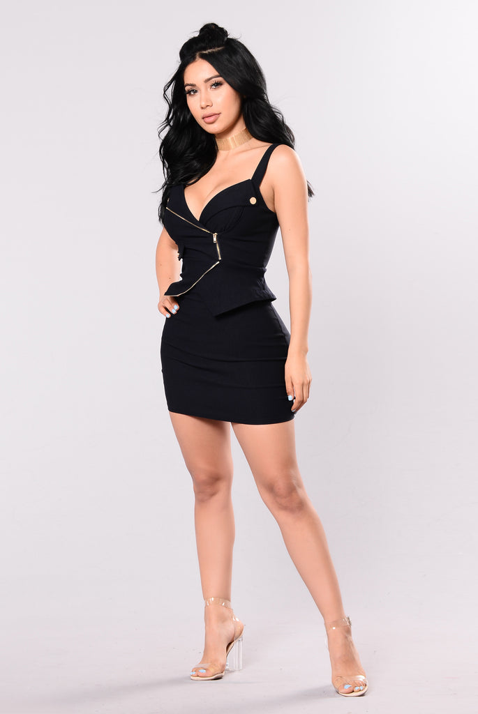 Ride Or Die Chick Dress - Navy