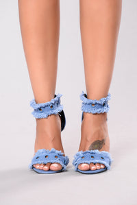 Jagged And Edgy Heel - Blue
