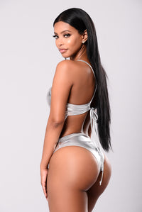 Feel The Breeze Bodysuit - Silver
