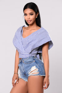 Candyland Top - Blue Stripe