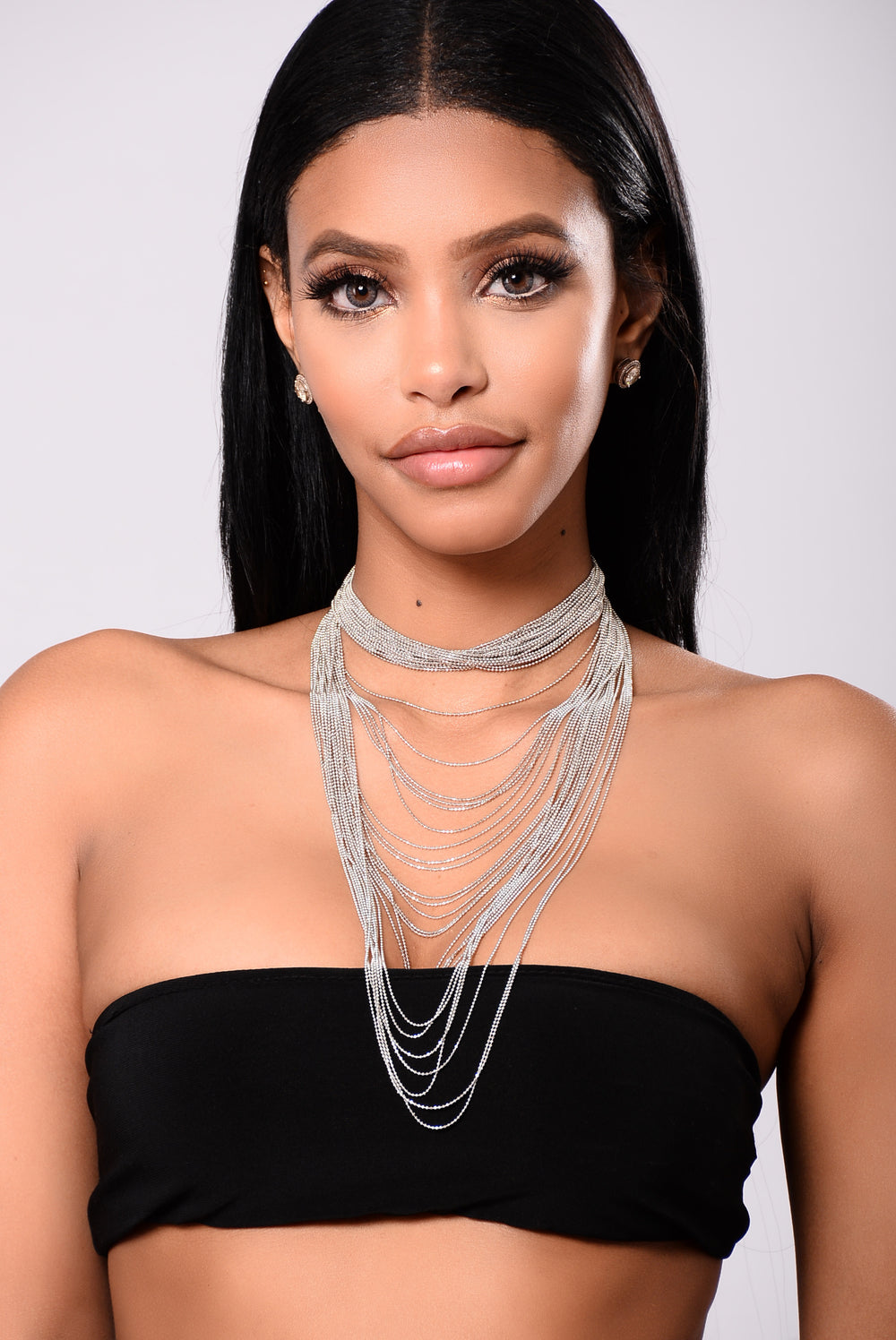 Reyna Chain Necklace - Silver