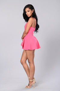 Girl Next Door Romper - Hot Pink Angle 4