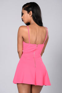 Girl Next Door Romper - Hot Pink Angle 2