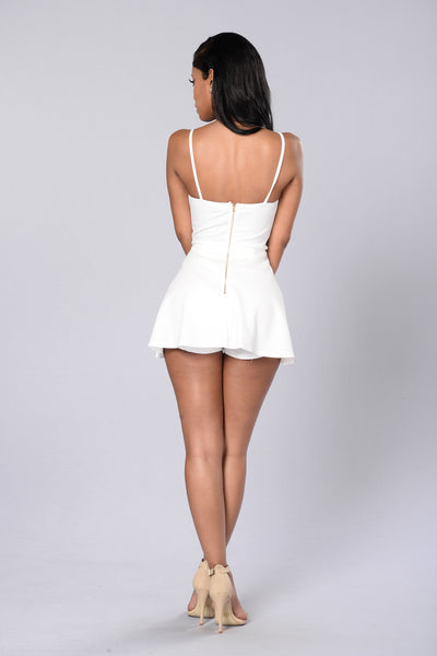 Girl Next Door Romper - Ivory