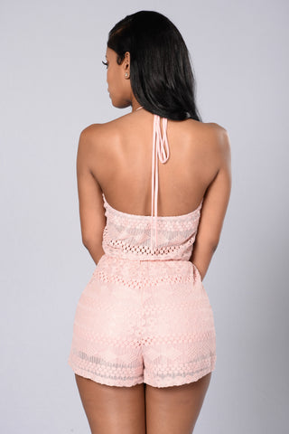 Sweet As Pie Romper - Blush