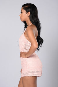 Sweet As Pie Romper - Blush Angle 3