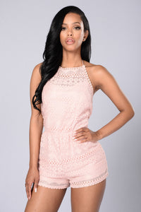Sweet As Pie Romper - Blush Angle 1