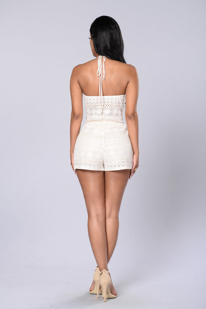Sweet As Pie Romper - Natural