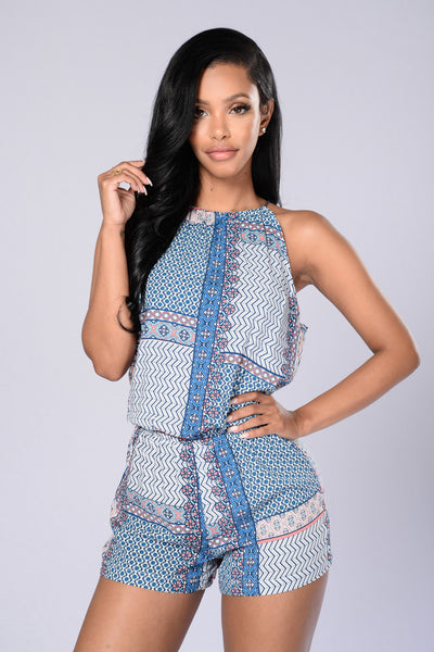 Morocco Romper - Marrakesh Blue