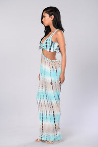 Knot Me Up in Tie Dye Dress - Mint