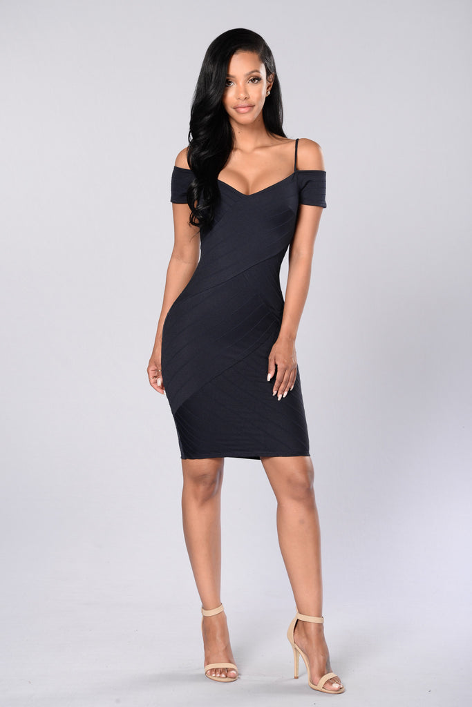 Candlelit Dinner Dress - Navy