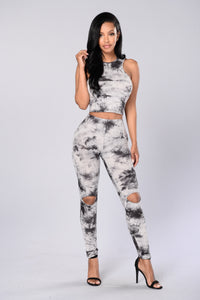 All Tyed Up Leggings - Charcoal
