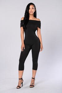 On and Off Jumpsuit - Black Angle 1