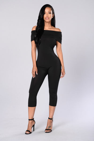 On and Off Jumpsuit - Black