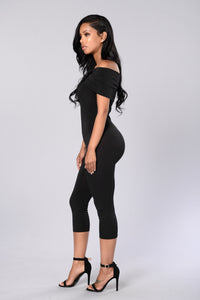 On and Off Jumpsuit - Black Angle 3