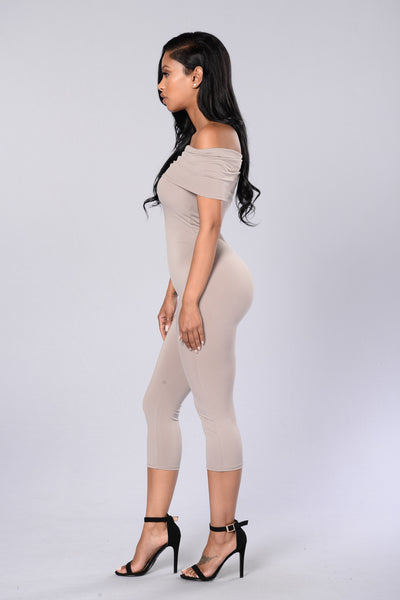 On and Off Jumpsuit - Mocha