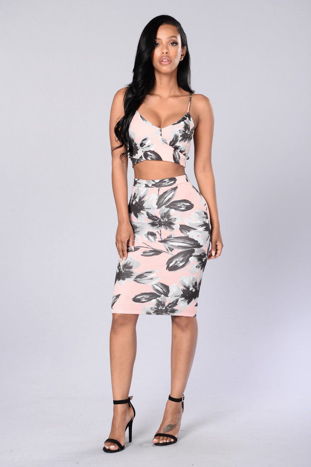 Flowered With Love Skirt - Blush